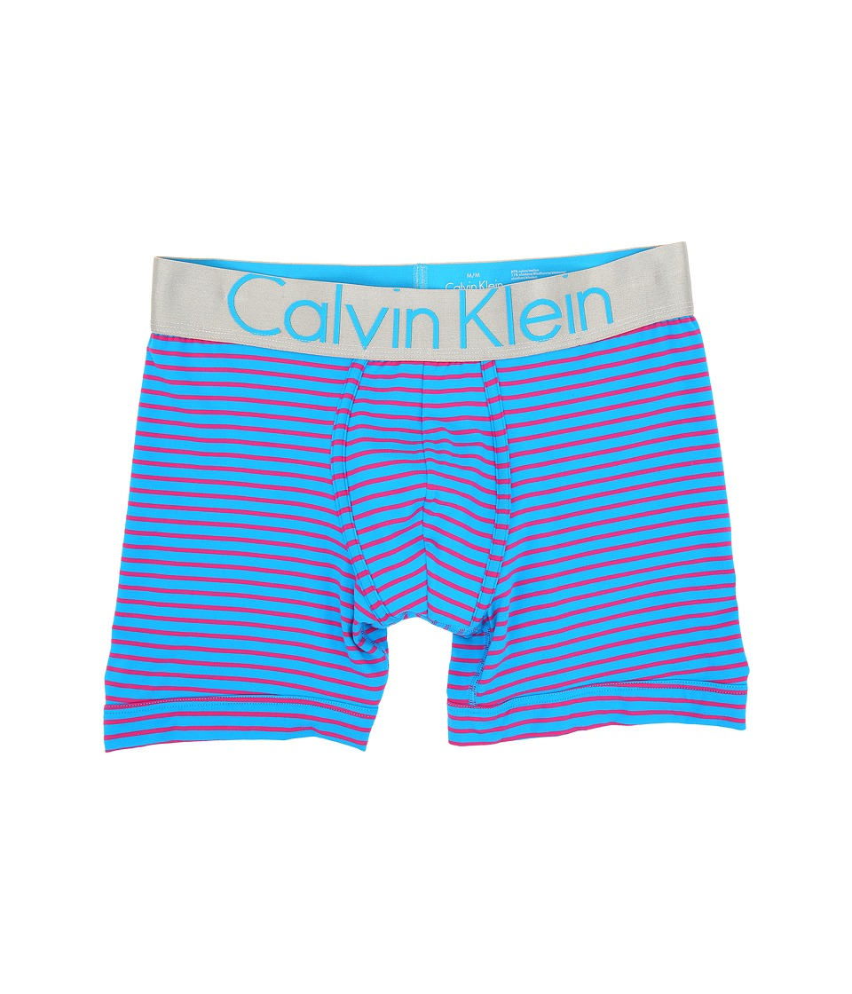 Calvin Klein Underwear - Steel Micro Boxer Brief U2719 (Rapture/Blue Ice Wide Waistband) Men's Underwear