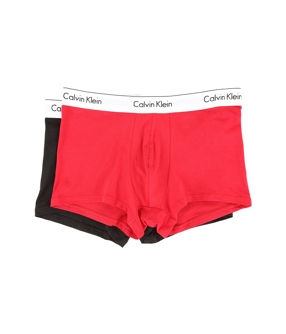 Calvin Klein Underwear - Modern Cotton Stretch Trunk (Regal Red/Black) Men's Underwear