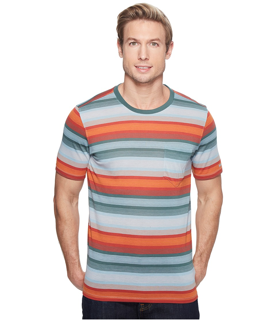 Marmot - Red Rock Short Sleeve (Moon River) Men's Short Sleeve Pullover