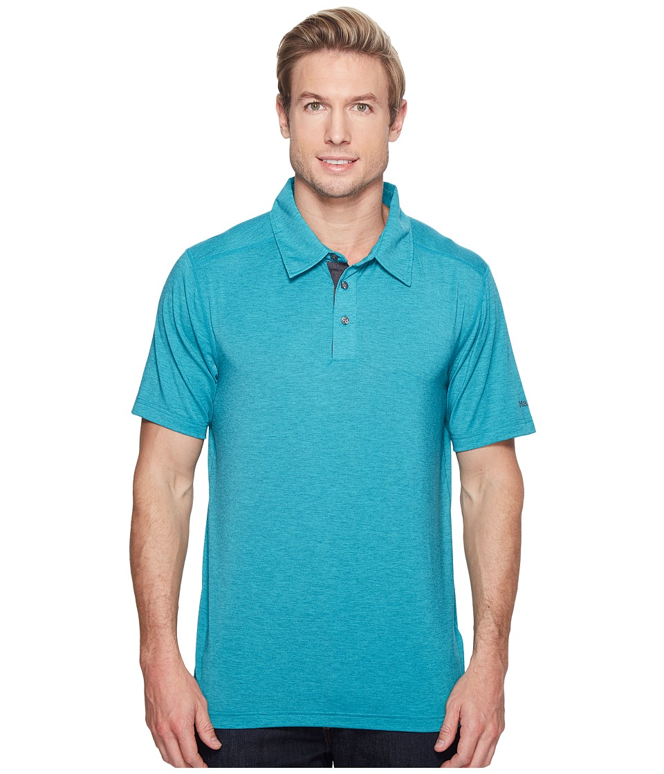 Marmot - Wallace Polo (Deep Jade Heather) Men's Short Sleeve Pullover