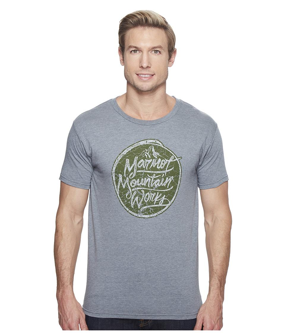 Marmot - Turf Tee Short Sleeve (Ash Heather) Men's T Shirt