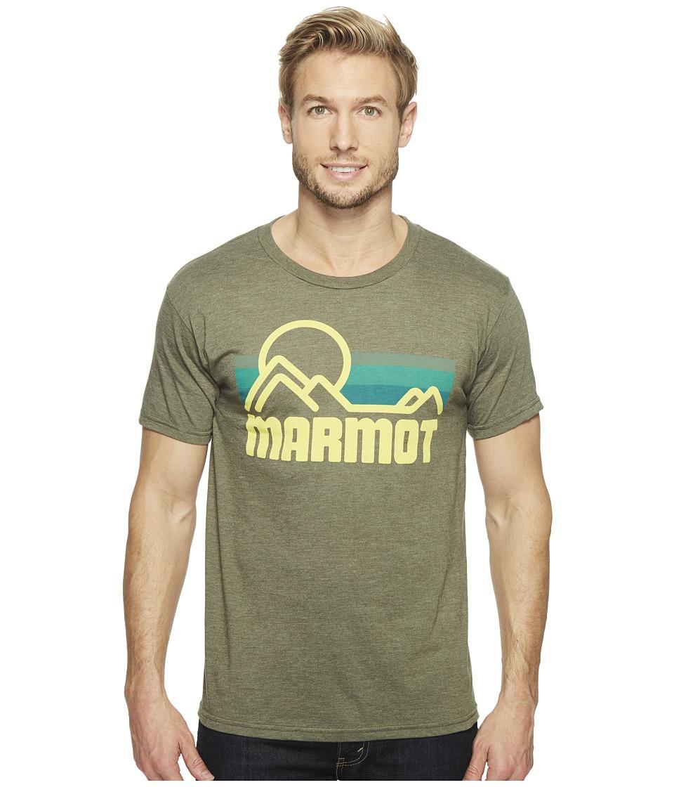 Marmot - Marmot Coastal Tee S/S (Olive Heather) Men's Short Sleeve Pullover