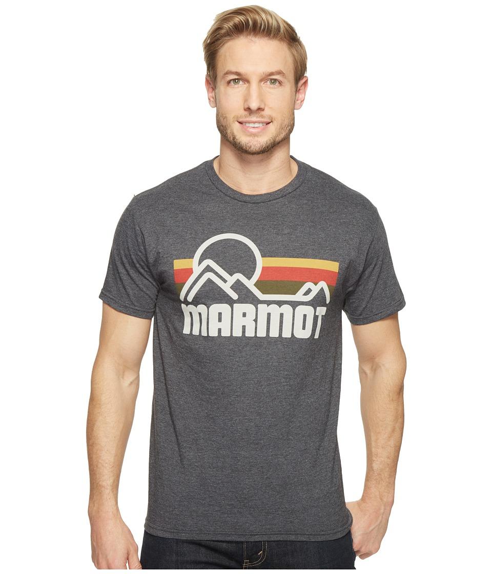 Marmot - Marmot Coastal Tee S/S (New Charcoal Heather) Men's Short Sleeve Pullover