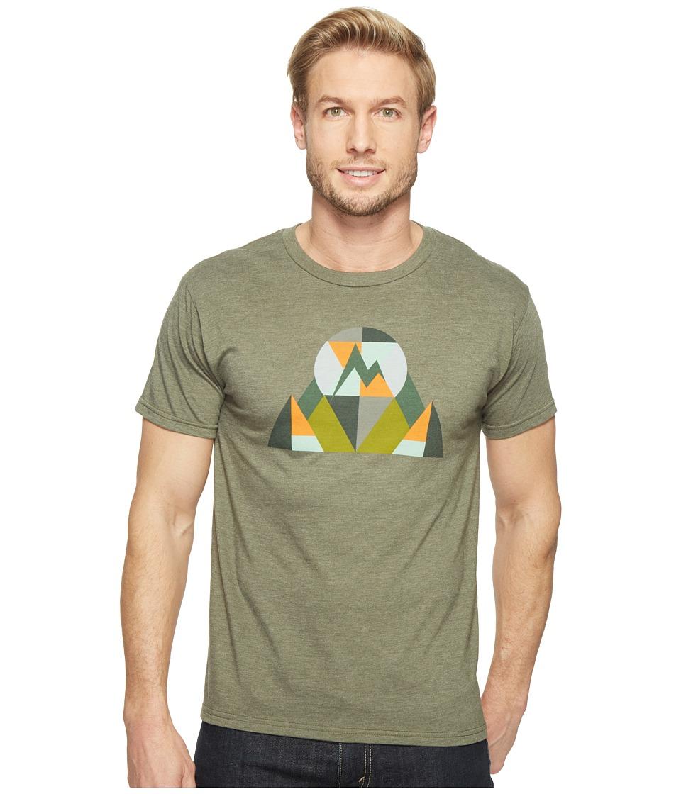 Marmot - Hew Tee Short Sleeve (Olive Heather) Men's T Shirt