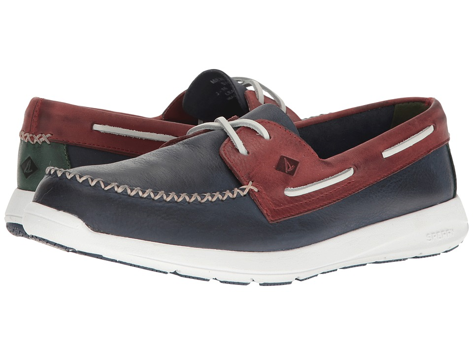 Sperry - Sojourn Leather 2-Eye (Navy/Red) Men's Lace up casual Shoes