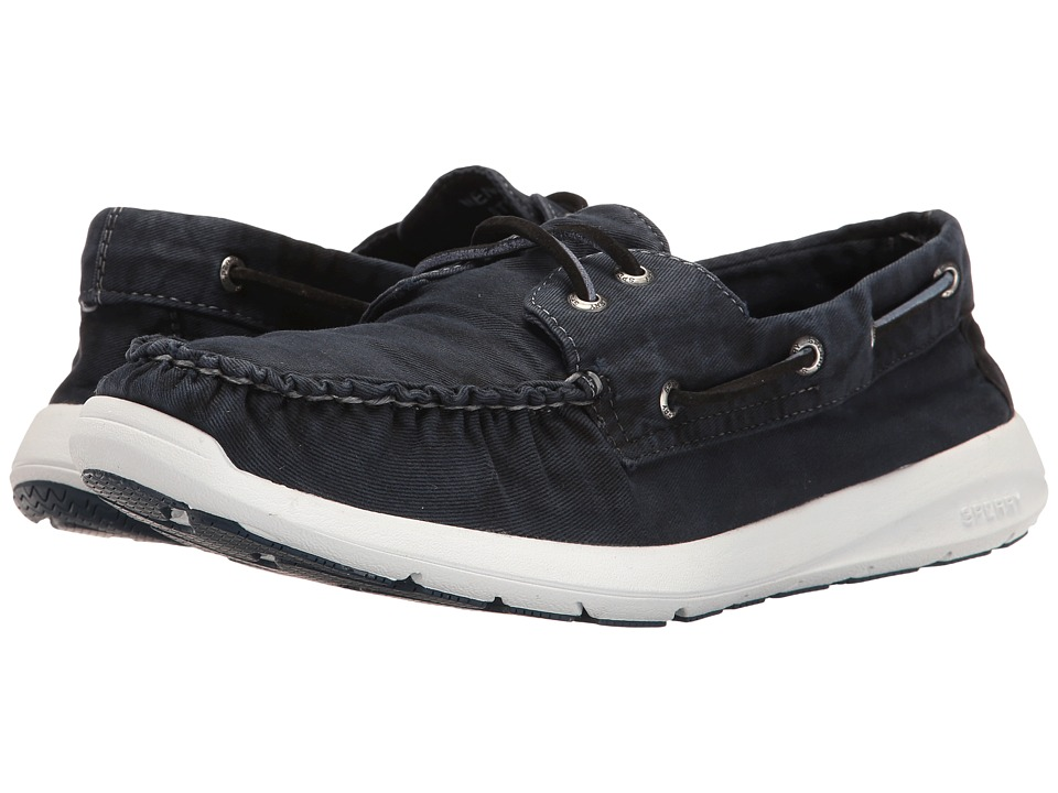Sperry Sojourn Washed Canvas 2-Eye (Navy) Men