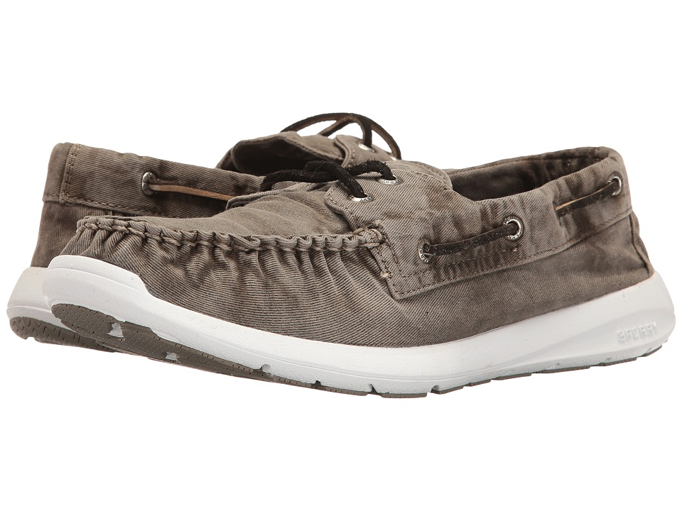 Sperry - Sojourn Washed Canvas 2-Eye (Grey) Men's Lace up casual Shoes