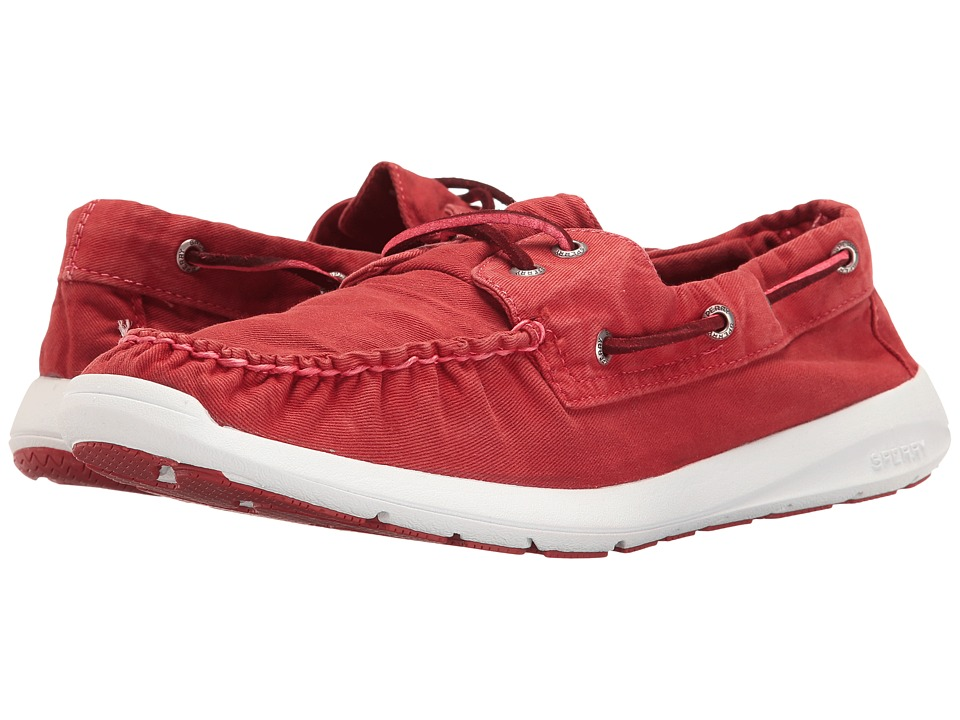 Sperry - Sojourn Washed Canvas 2-Eye (Red) Men's Lace up casual Shoes