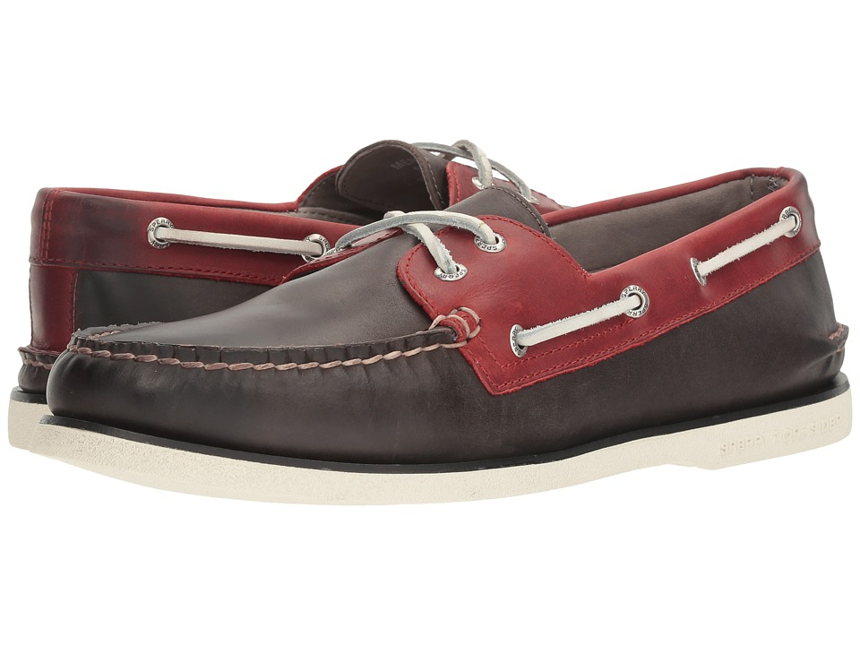 Sperry - Gold A/O 2-Eye Catskill (Cement/Burgundy) Men's Moccasin Shoes