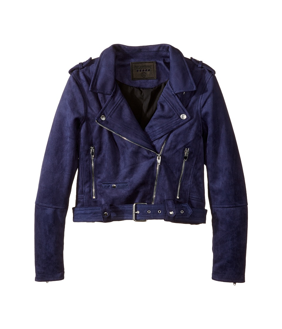 Blank NYC Kids - Faux Suede Moto Jacket in Morning (Big Kids) (Morning After) Girl's Coat