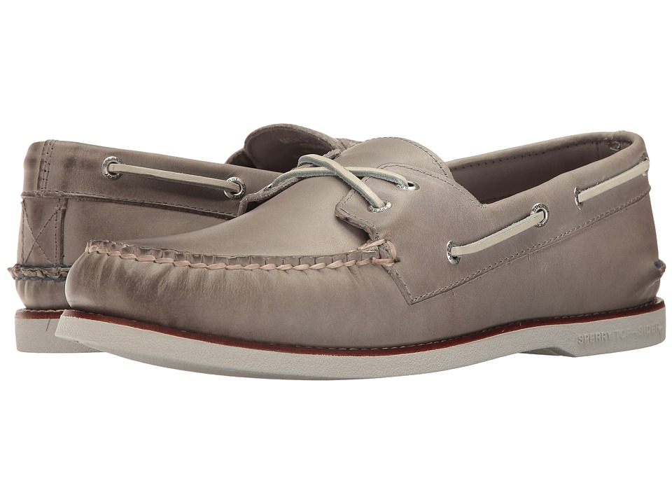 Sperry - Gold A/O Cross Lace (Grey) Men's Moccasin Shoes