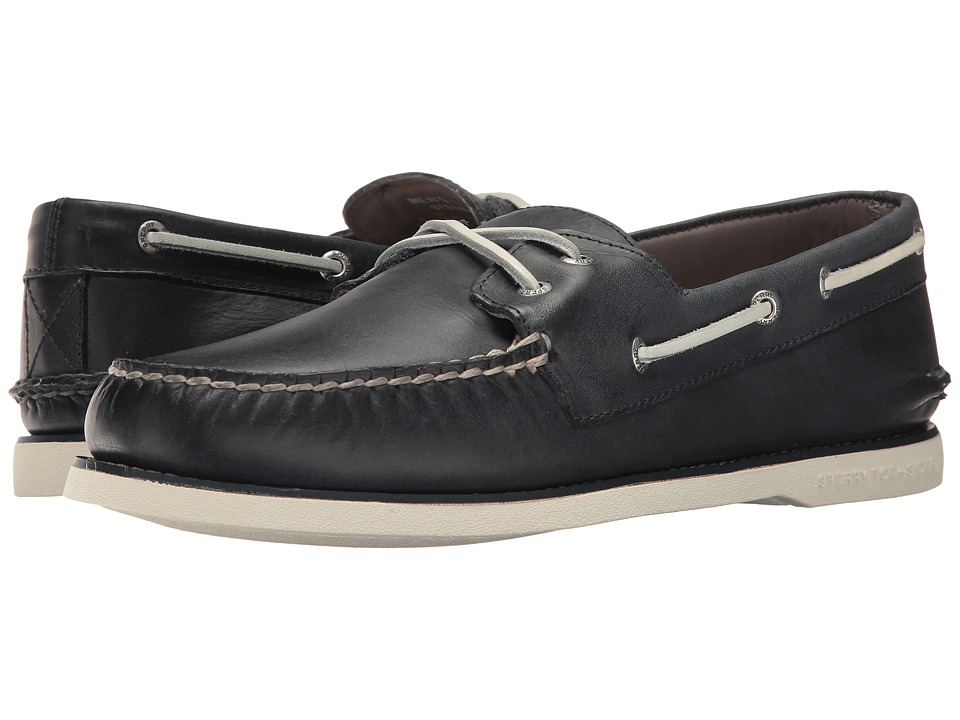 Sperry - Gold A/O Cross Lace (Navy) Men's Moccasin Shoes