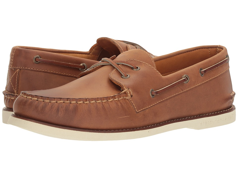 Sperry - Gold A/O Cross Lace (Tan/White) Men's Moccasin Shoes