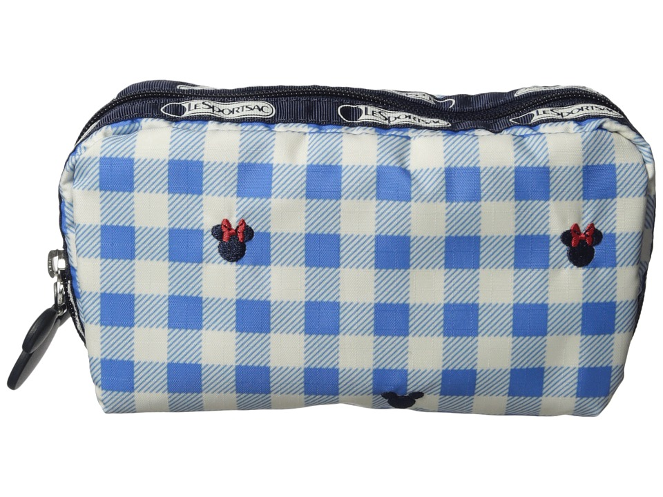 LeSportsac - Rectangular Cosmetic (Checks & Bows) Clutch Handbags