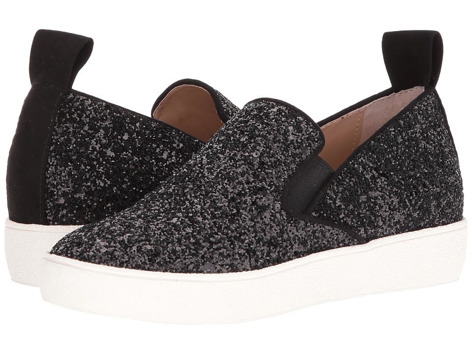 Shellys London - Henry (Black Glitter) Women's Slip on Shoes