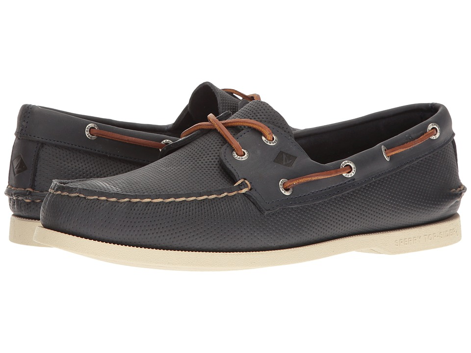 Sperry - A/O 2-Eye Perfed (Navy) Men's Lace up casual Shoes