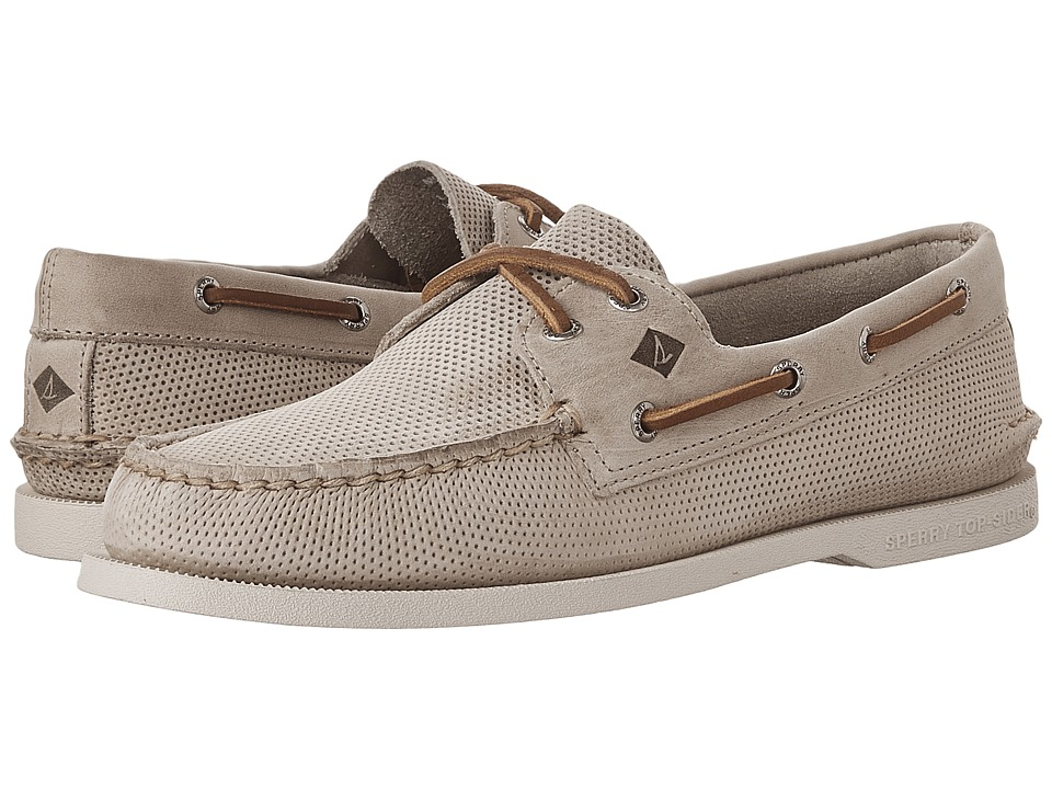 Sperry - A/O 2-Eye Perfed (Cement) Men's Lace up casual Shoes