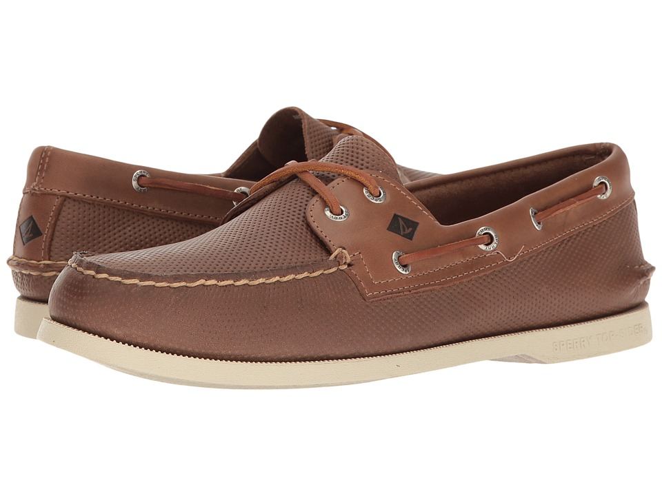 Sperry - A/O 2-Eye Perfed (Tan) Men's Lace up casual Shoes