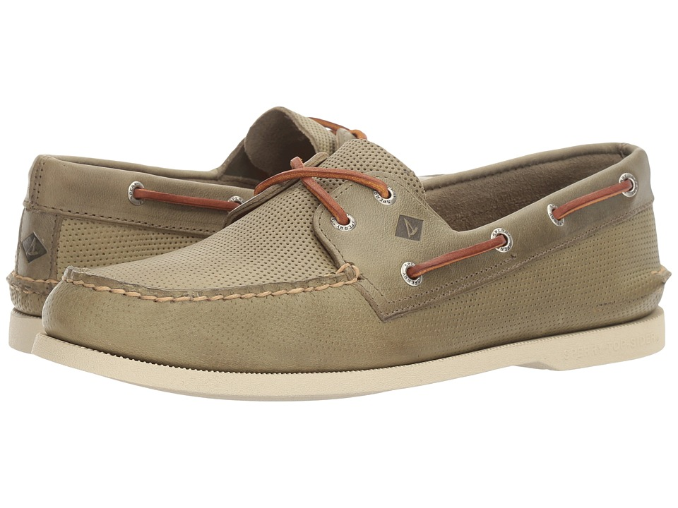 Sperry - A/O 2-Eye Perfed (Green) Men's Lace up casual Shoes