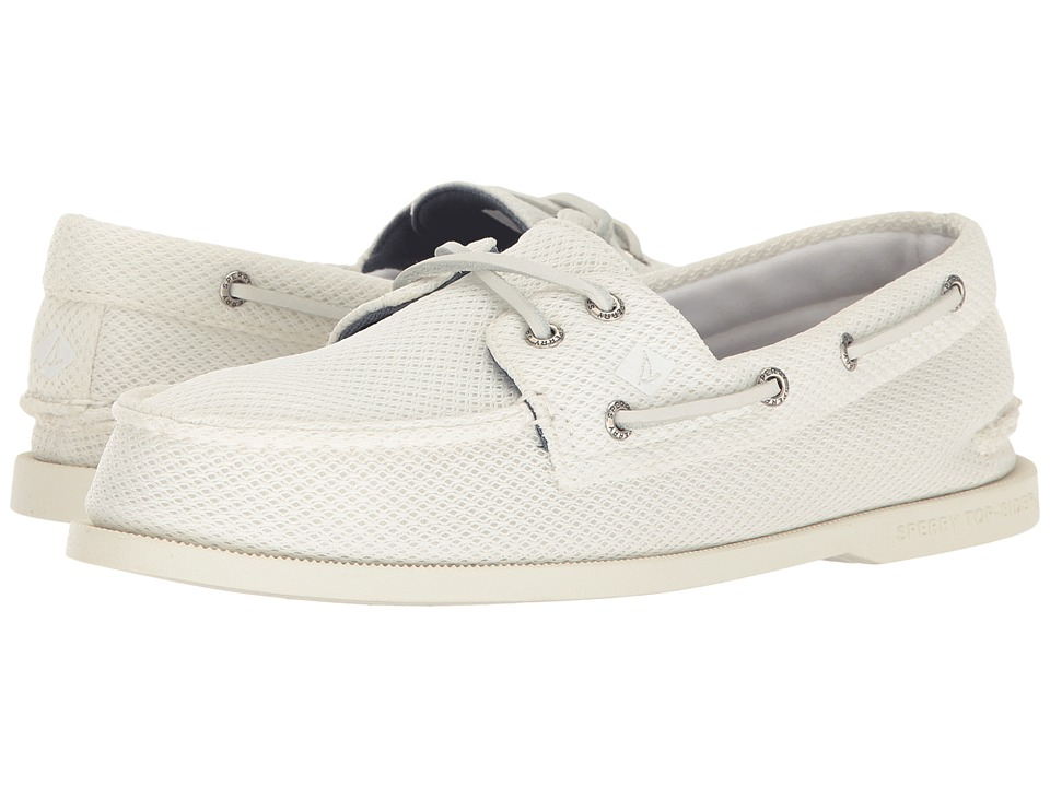 Sperry - A/O 2-Eye Mesh (White) Men's Shoes