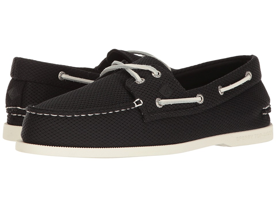 Sperry - A/O 2-Eye Mesh (Black) Men's Shoes