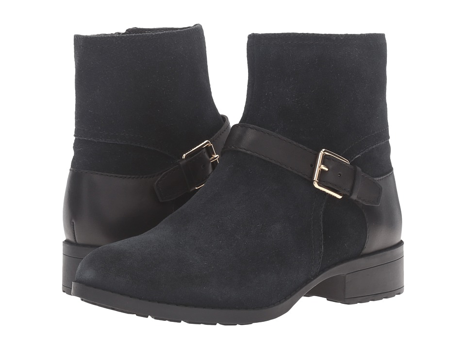 Cole Haan Marla Bootie Waterproof (Black Suede/Black Leather) Women