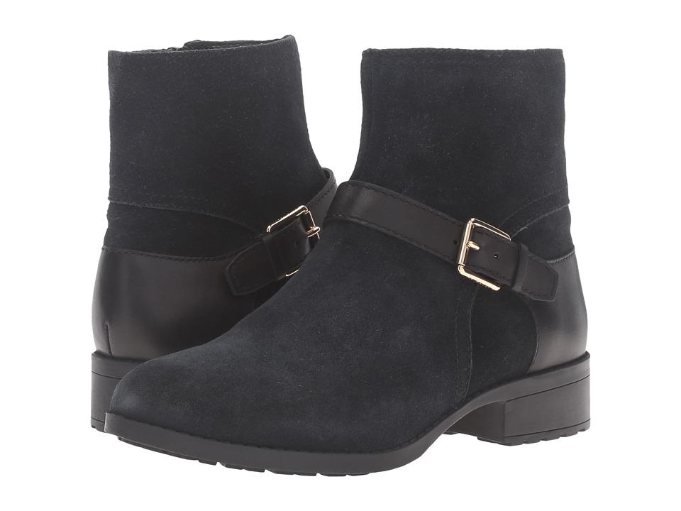 Cole Haan - Marla Bootie Waterproof (Black Suede/Black Leather) Women's Boots