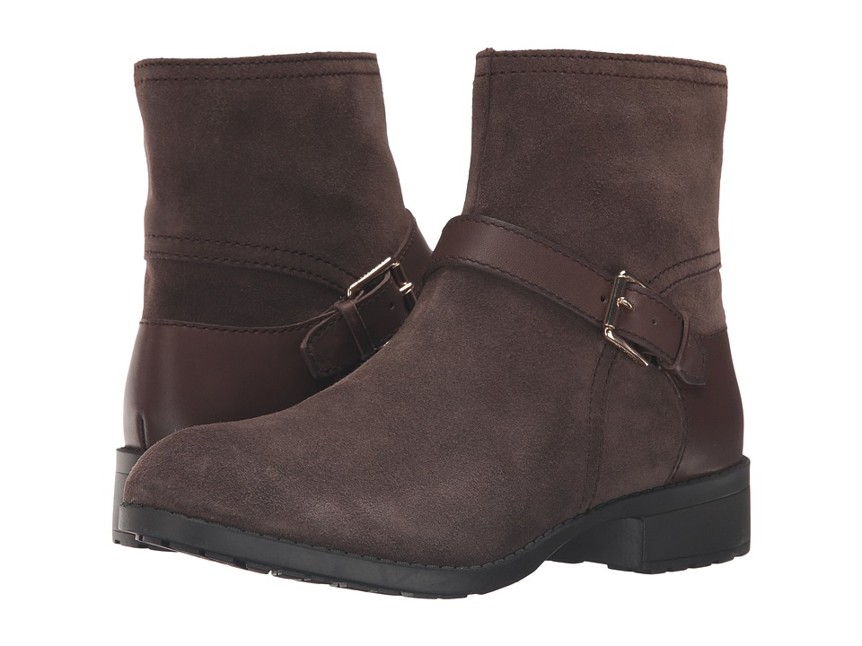 Cole Haan - Marla Bootie Waterproof (Dark Taupe Suede/Dark Taupe Leather) Women's Boots