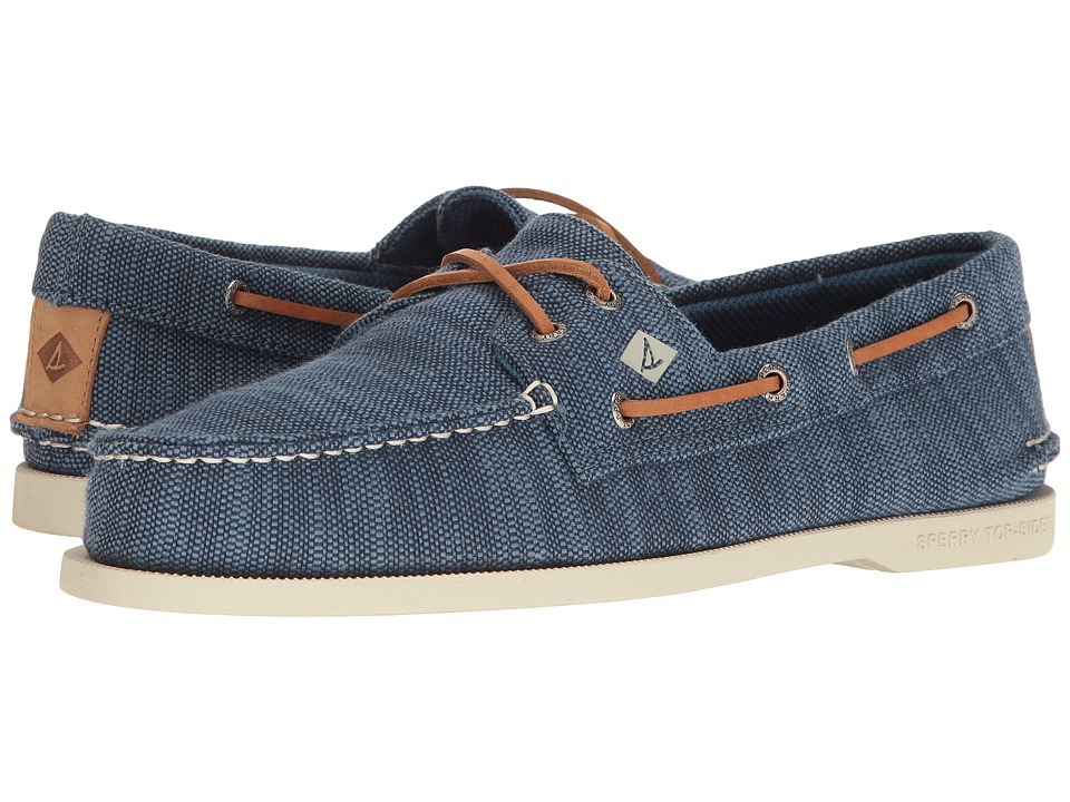 Sperry - A/O 2-Eye Baja (Navy) Men's Moccasin Shoes