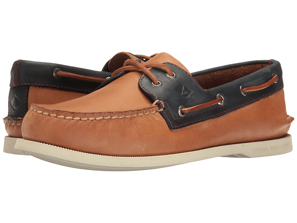 Sperry - A/O 2-Eye Sahara Pack (Sahara/Navy) Men's Moccasin Shoes