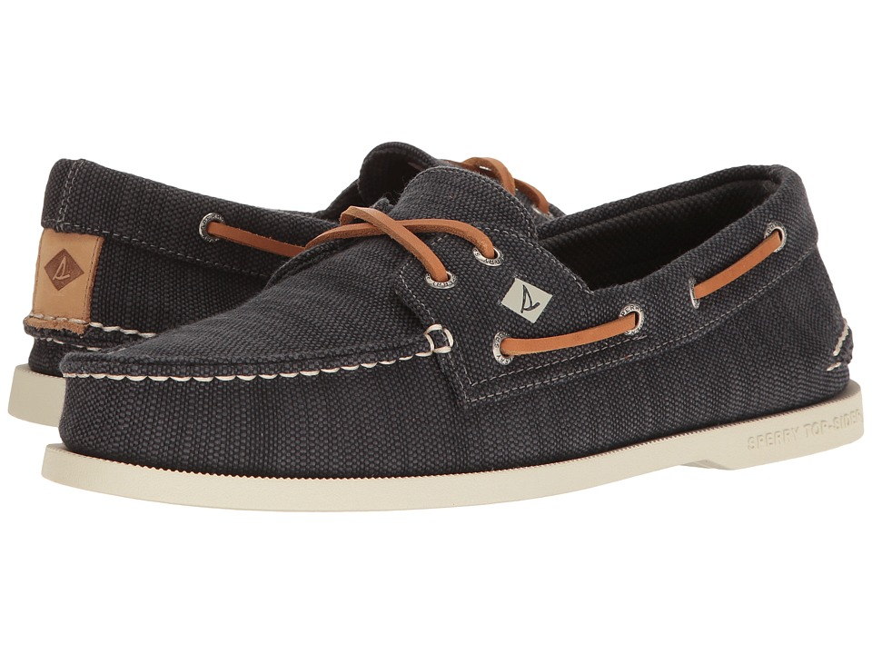 Sperry - A/O 2-Eye Baja (Gunmetal) Men's Moccasin Shoes