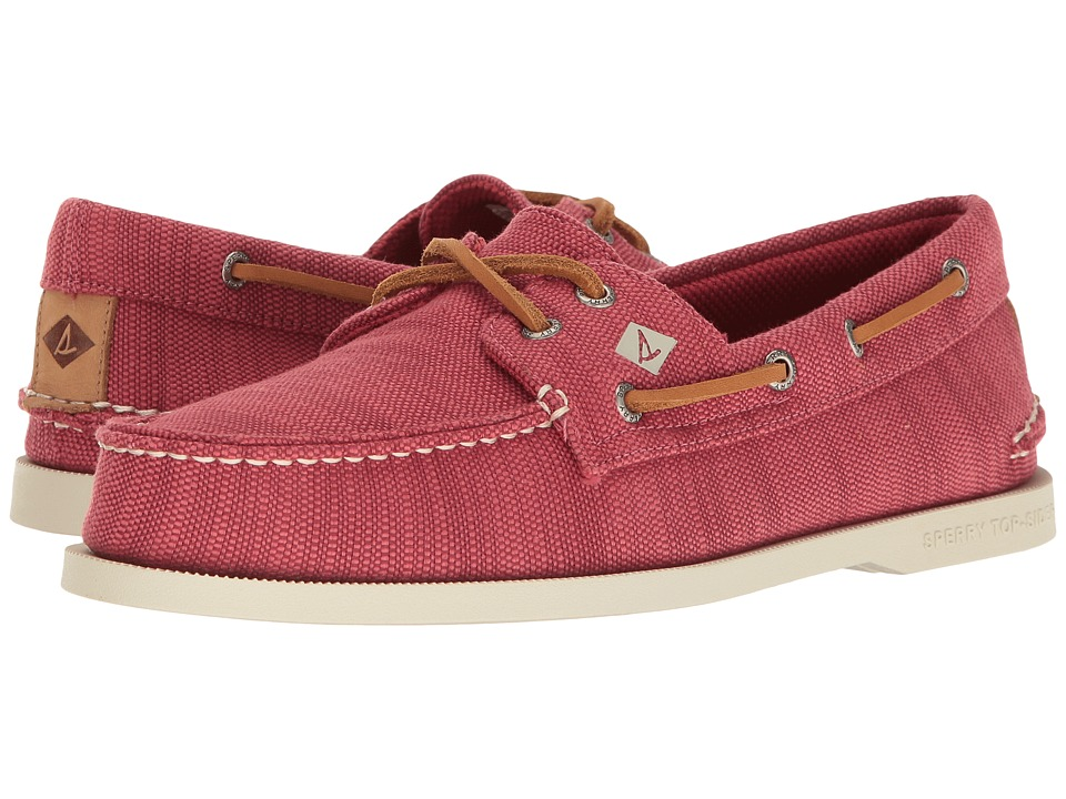 Sperry - A/O 2-Eye Baja (Red) Men's Moccasin Shoes