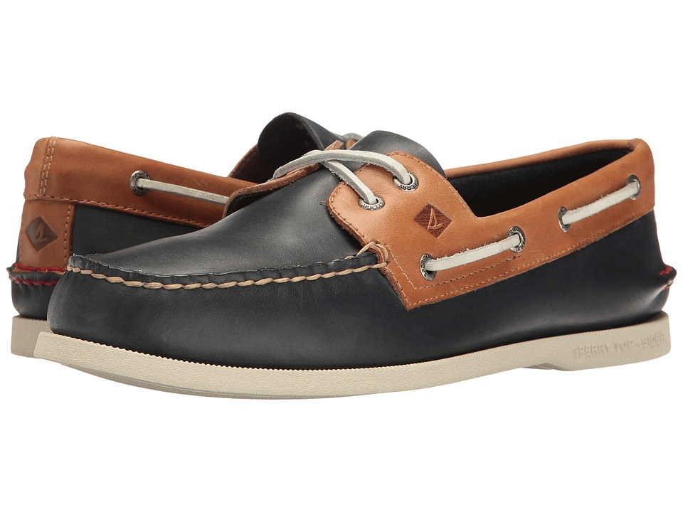 Sperry - A/O 2-Eye Sahara Pack (Navy/Sahara) Men's Moccasin Shoes
