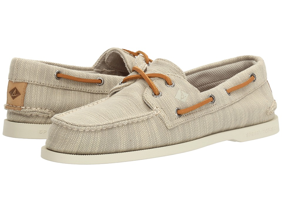 Sperry - A/O 2-Eye Baja (Cement) Men's Moccasin Shoes