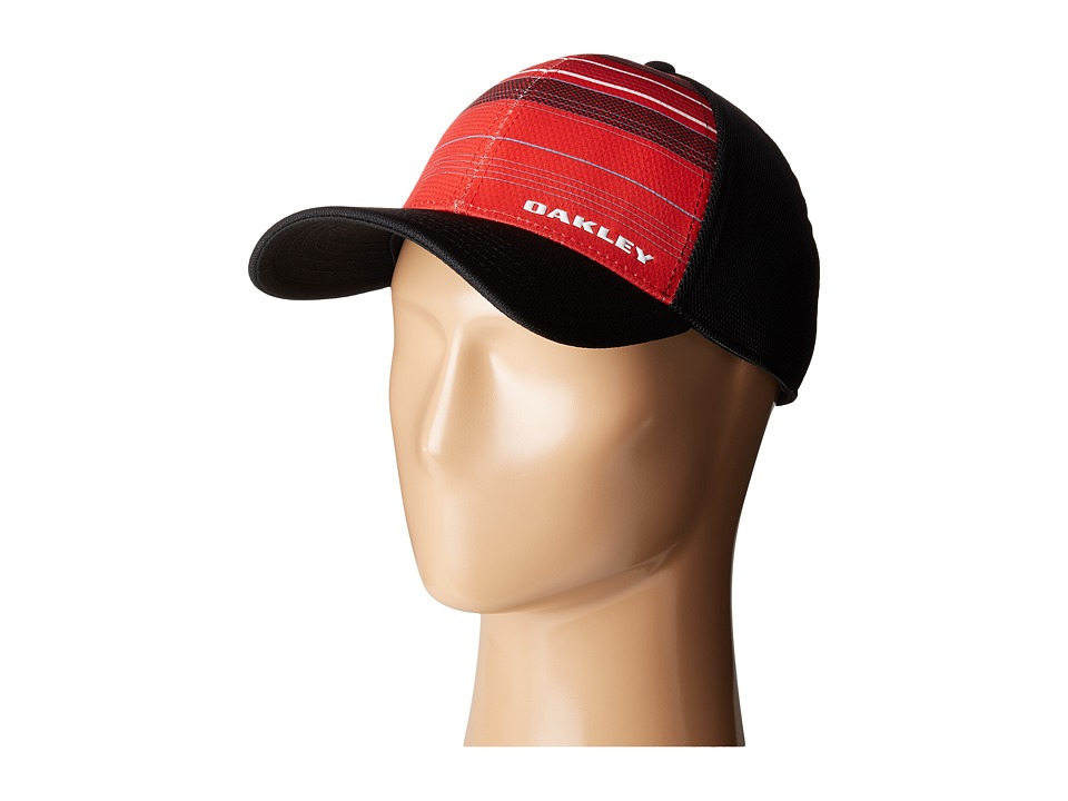 Oakley - Silicon Bark Trucker Print 2.0 Hat (Red Line) Caps