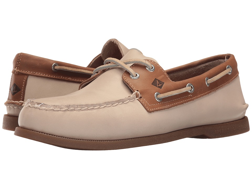 Sperry - A/O 2-Eye Sarape (White/Camel) Men's Lace up casual Shoes