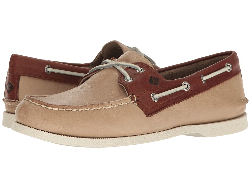 Sperry - A/O 2-Eye Cross Lace (Cement/Brown) Men's Lace up casual Shoes