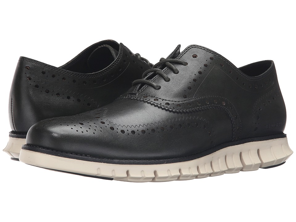 Cole Haan - Zerogrand Wing Ox (Dark Green/Ivory) Men's Lace Up Wing Tip Shoes