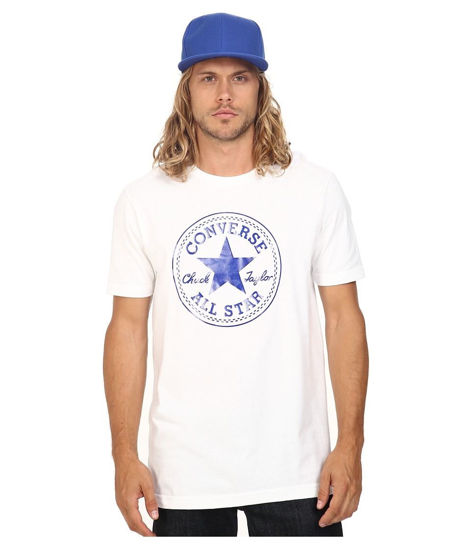 Converse - At Once Patent Core Patch Tee (Blue/White) Men's T Shirt