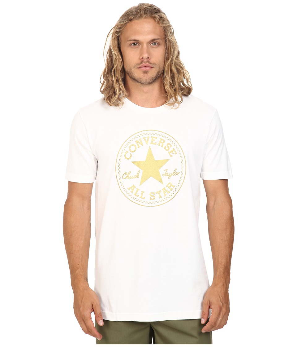 Converse - At Once Metallic Core Patch Tee (White) Men's T Shirt