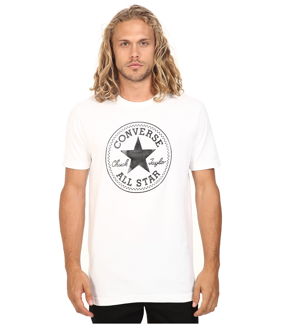 Converse - At Once Patent Core Patch Tee (Black/White) Men's T Shirt