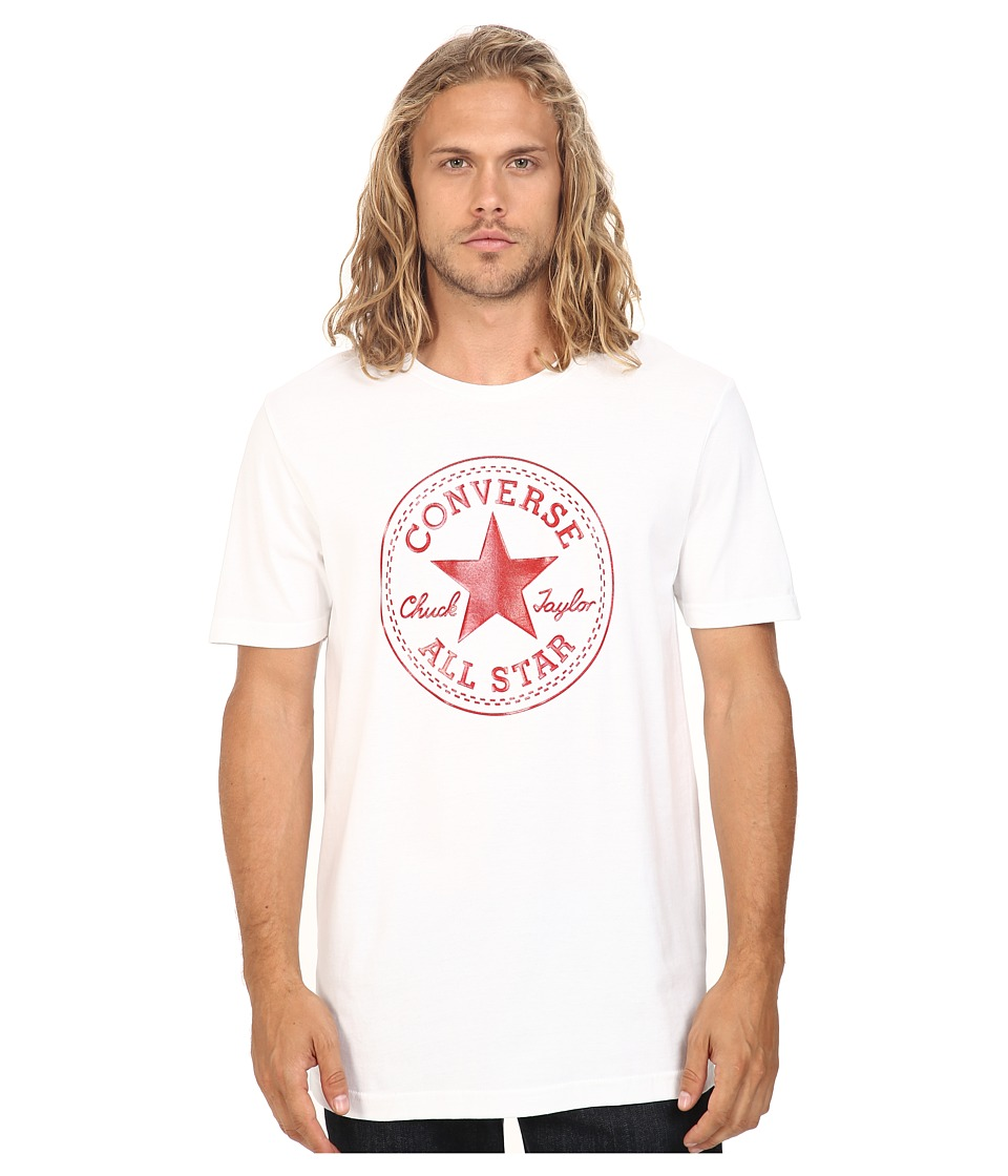 Converse - At Once Patent Core Patch Tee (Red/White) Men's T Shirt
