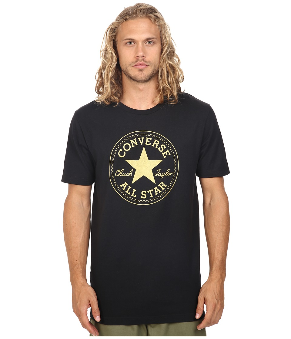 Converse - At Once Metallic Core Patch Tee (Black) Men's T Shirt