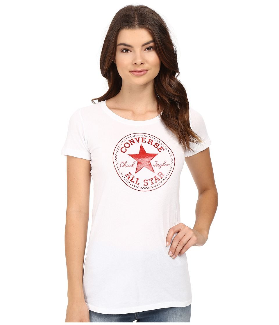Converse At Once Patent Core Patch Tee (Red) Women