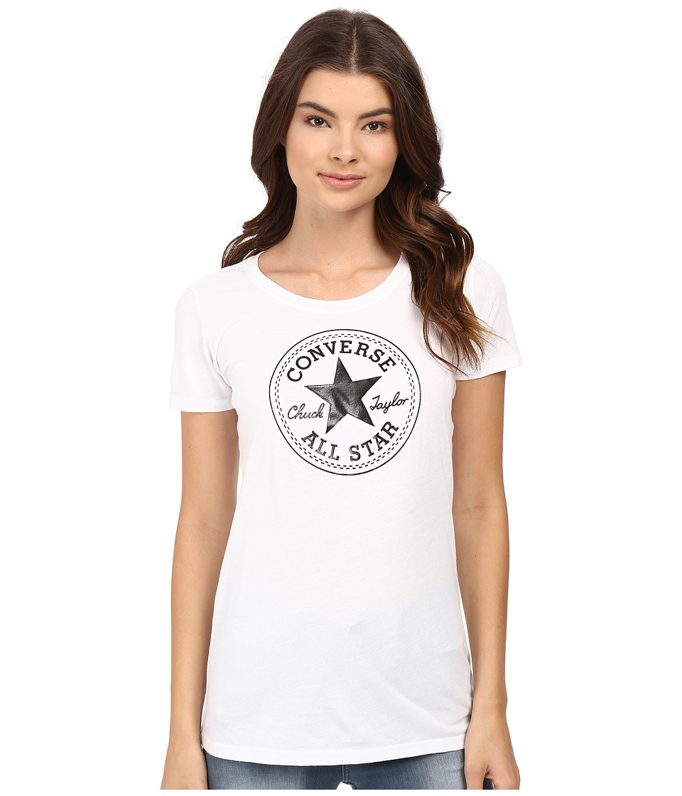 Converse - At Once Patent Core Patch Tee (Black) Women's T Shirt