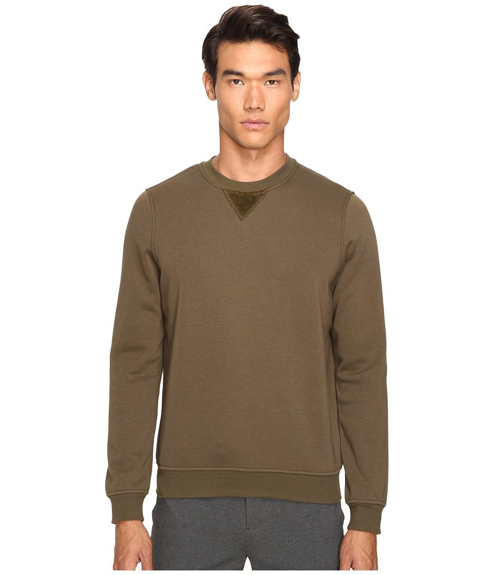 ATM Anthony Thomas Melillo - Crew Neck Sweatshirt w/ Elbow Patches (Army) Men's Sweatshirt