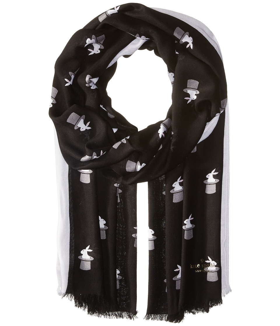 Kate Spade New York - Magic Trick Oblong Scarf (Black) Scarves