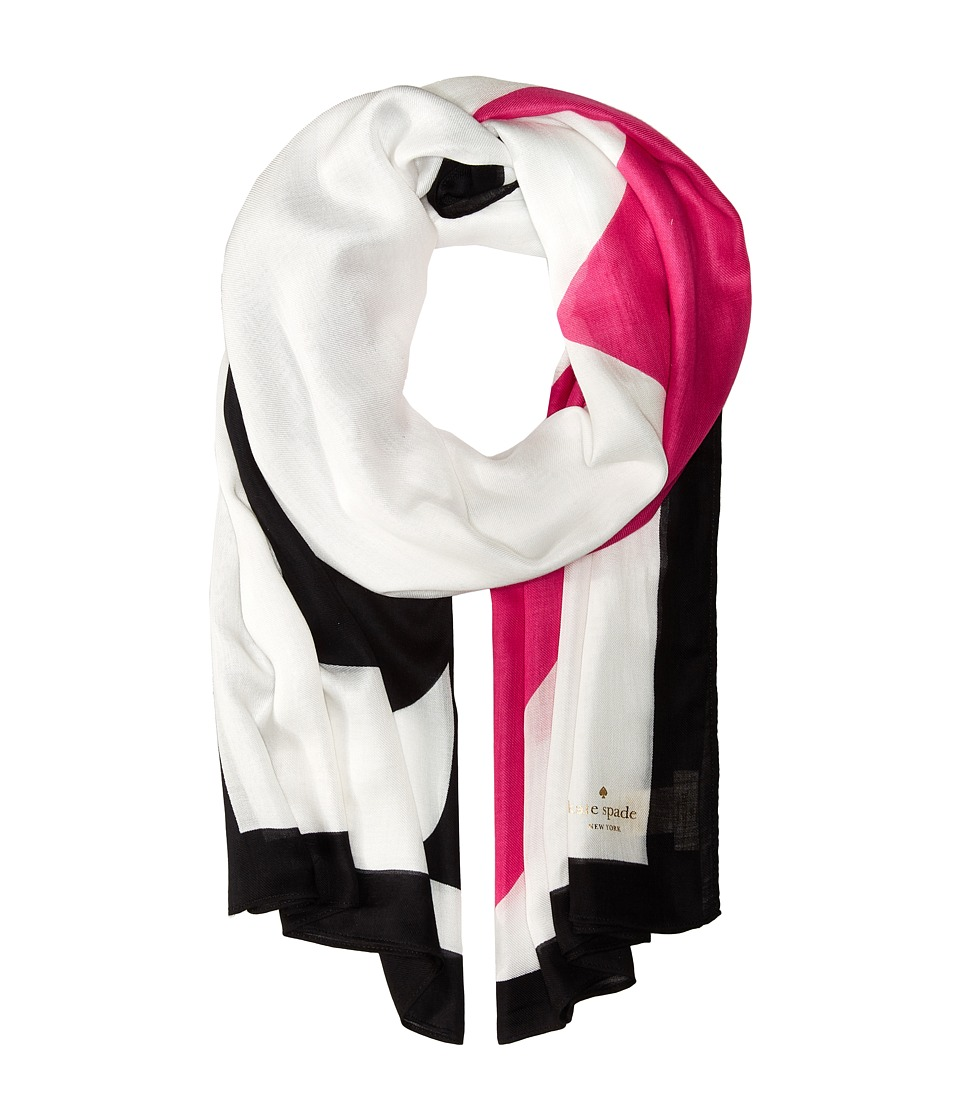 Kate Spade New York - Suit of Cards Oblong Scarf (Cream) Scarves