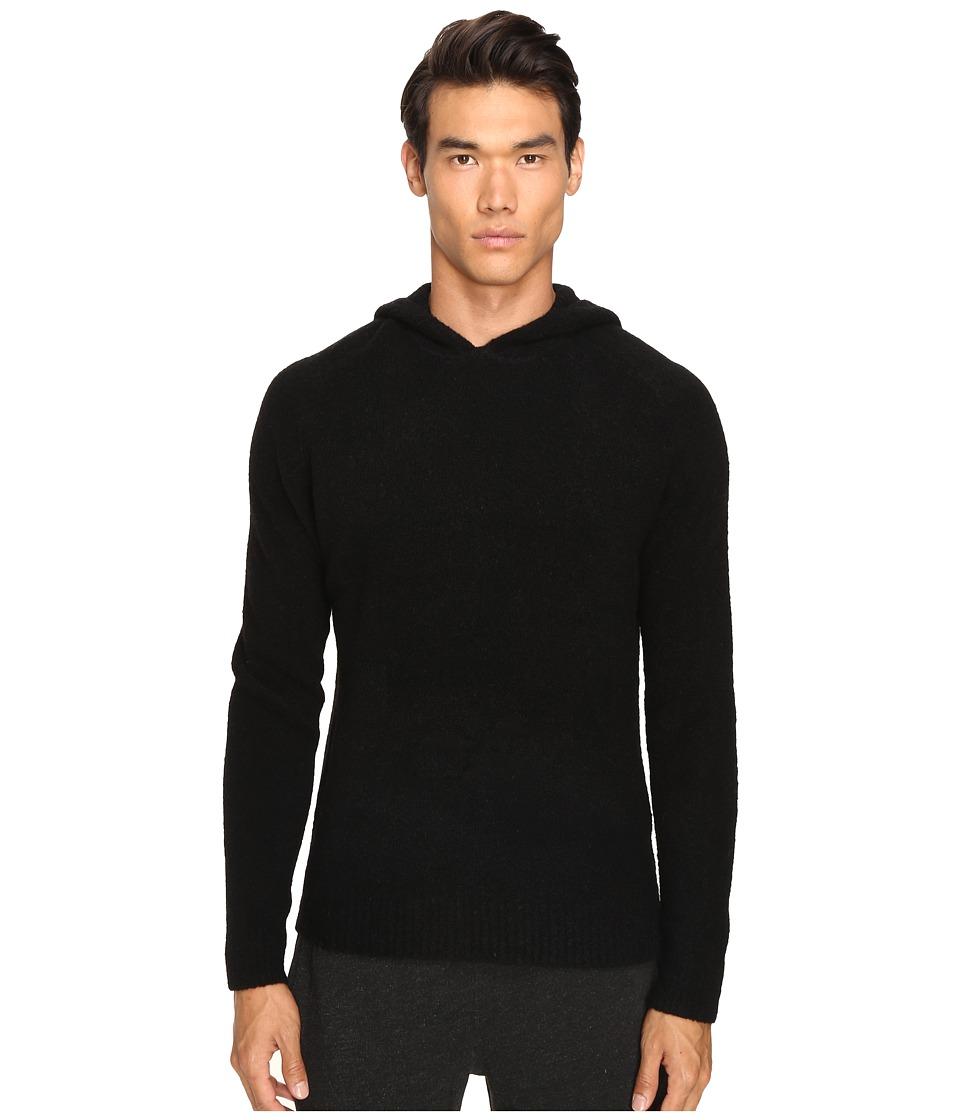 ATM Anthony Thomas Melillo - Cozy Hooded Pullover Sweater (Black) Men's Sweatshirt