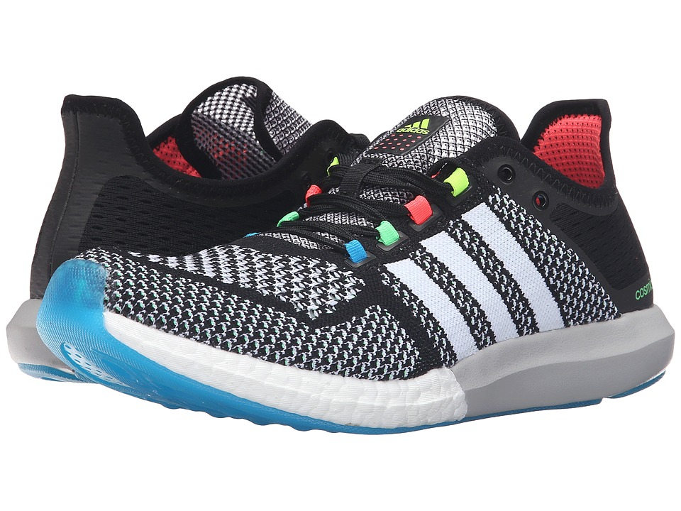 adidas - Climachill Cosmic Boost (Black/White/Solar Blue) Men's Shoes